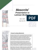 Masonite mgmt pres