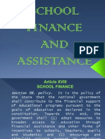 School Finance and Assistance