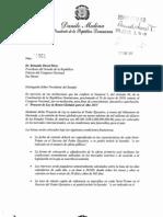 Carta al Senado/Proyecto de Ley de Bonos Globales para el Año 2013