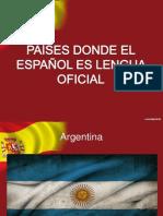 Países donde el español es lengua oficial