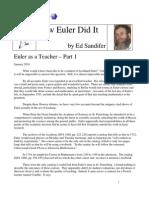 Jan2010 How Euler Did It