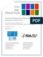 Report on Diversifying Clinical Trials