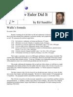 How Euler Did It 13 Wallis Formula