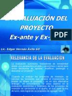 Evaluación Ex-ante y Ex-post de proyectos