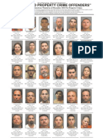 Most Wanted Property Crime Offenders, Dec. 2012