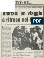 "CLAUDIO LORETO - Reportage sul BHUTAN (Quotidiano ""Corriere Mercantile"")"