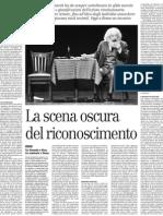 Il Filosofo Axel Honneth e La Sfida Morale Alla Base Dell'Azione Rivoluzionaria - Il Manifesto 18.01.2013