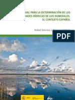 Manual para la determinacion de necesidades hidricas de los humedales - españa