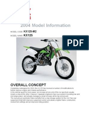 Astonishing 2004 Kx125 Specs Piston Suspension Vehicle Pabps2019 Chair Design Images Pabps2019Com