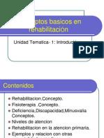 Conceptos Basicos en Rehabilitacion
