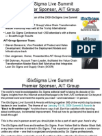 iSixSigma Live Summit Sponsored by AIT Group 4