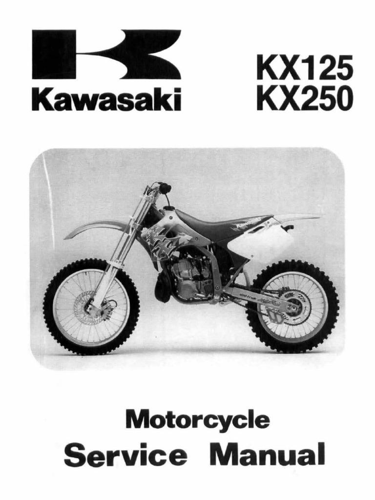 kx125 kx250 94 98 service manual rh scribd com 1985 Kawasaki KX 125 1981 Kawasaki KX 125