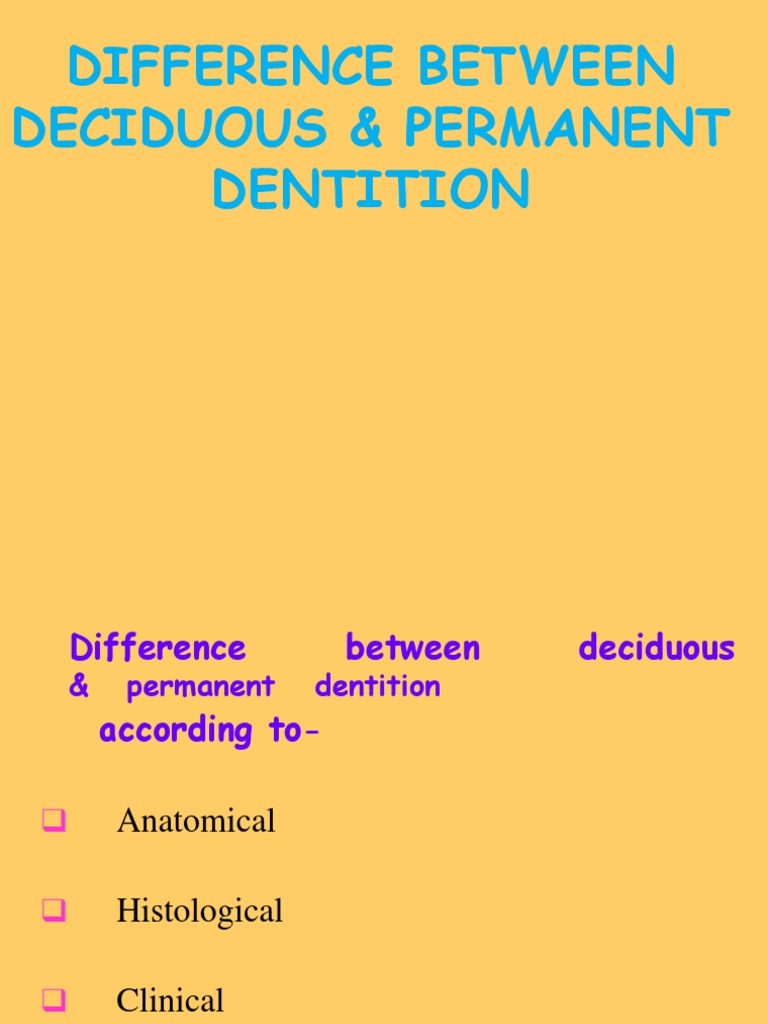 difference between primary and permanent teeth