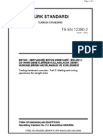 TS EN 12390-2  Beton - Sertlesmis Beton Deneyleri - Bölüm 2