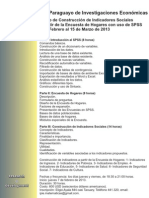 Curso de Construcción de Indicadores Sociales a través de la Encuesta de Hogares con Uso de SPSS