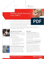 Vendor Audit Services from SAFC