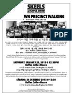 Koreatown Precinct Walking Robert D. Skeels for LAUSD School Board