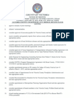 Victoria County Commissioners Court Agenda