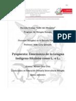 Propuesta Enseñanza de la Lengua Indigena