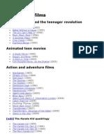list of teen films