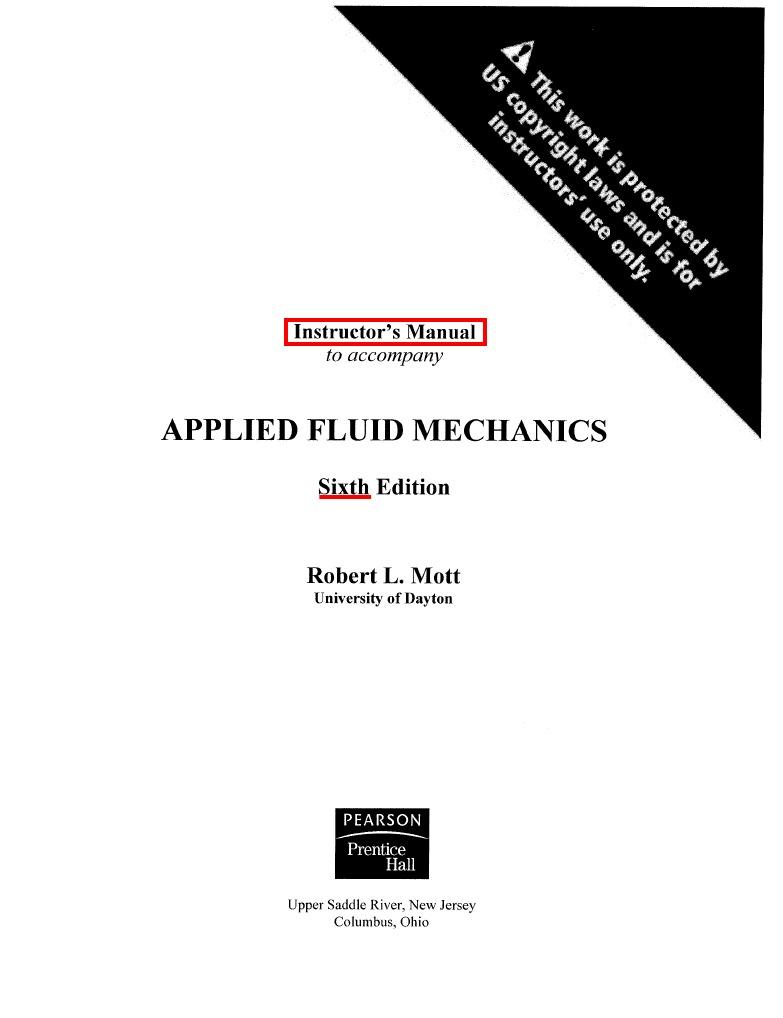Applied fluid mechanics mott solutions manual fandeluxe Images