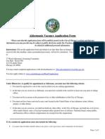 Aldermanic Vacancy Application Form