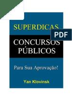 Superdicas Concursos Públicos Para Sua Aprovação!