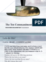 Ten Commandments (First Three Commandments)