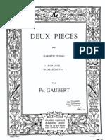 2 Pieces (Allegretto), Gaubert