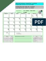 Un calendrier perpétuel - a perpetual calendar