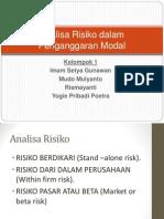 analisa risiko dalam penganggaran modal