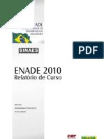 Enade 2010 relatório de curso