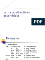 Langage Dassemblage Syntaxe