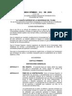 Acuerdo 11 de 2005 estatuto contratacion unitolima