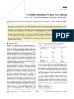 Effect of Ionic Liquid Treatment on Pyrolysis Products from Bamboo
