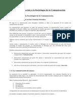 Tema 1. Introducción a la Sociología de la Comunicación