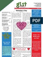 Gist Weekly Issue 11 - Valentine's Day