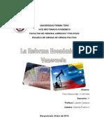 La Reforma Económica en Venezuela
