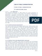 Structure of Public Adm