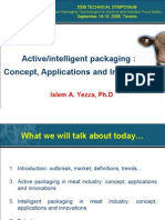Active/intelligent packaging for meat industry