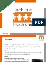 EACH ONE TEACH ONE CHARITABLE FOUNDATION