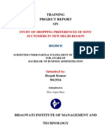 Project Report on Sony Ddepak