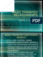 MASS TRANSFER RELATIONSHIPS