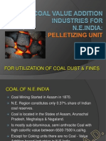 Coal Pelletizing for Coal Upgradation
