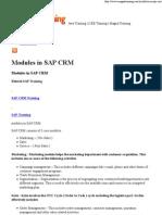 Modules in SAP CRM