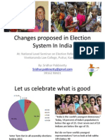 Changes proposed in Election System In India