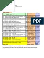 SU 2012 FQ finals schedule