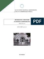 Metodologia cercetarii in stiintele administrative