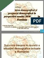 Prognoza demografica in perspectiva 2050 in Romania