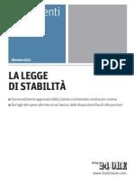 Testo Legge Stabilita Tabelle